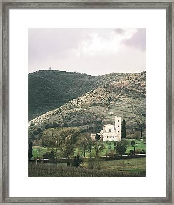 Tuscan Church Framed Print