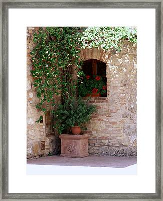 Framed Print featuring the photograph Tuscan Corner by Sandy Molinaro