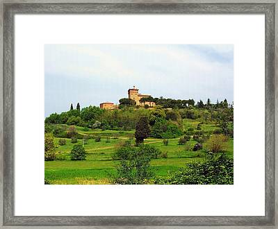 Tuscan Countryside Framed Print by Ellen Henneke