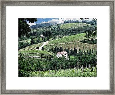 Tuscan Countryside Framed Print by Jennie Breeze