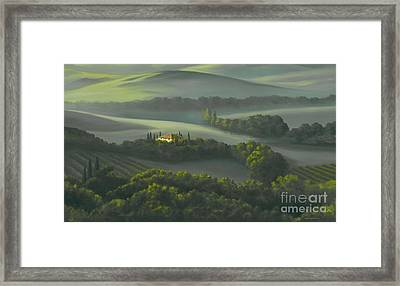 Tuscan Daybreak Framed Print by Michael Swanson