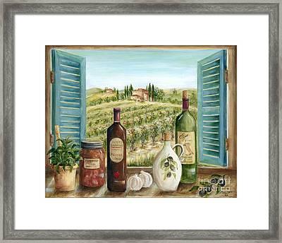 Tuscan Delights Framed Print