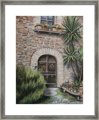 Tuscan Doorway La Parrina Framed Print by Melinda Saminski