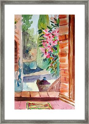 Tuscan Doorway Framed Print