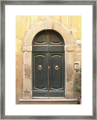 Tuscan Doorway Framed Print by Melinda Saminski