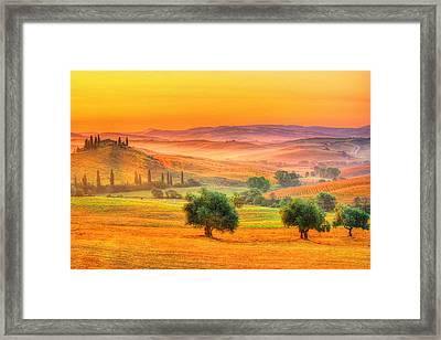 Tuscan Dream Framed Print by Midori Chan
