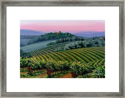 Tuscan Dusk Framed Print by Michael Swanson
