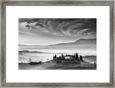 Podere Belvedere 1 Framed Print by Rod McLean