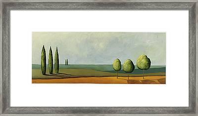 Tuscan Field Framed Print by Pablo Esteban