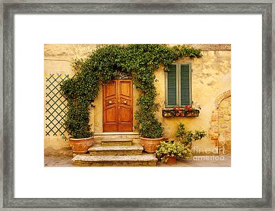 Tuscan Front Door Framed Print