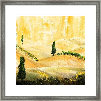 Tuscan Glow- Tuscan Impressionist Paintings Framed Print