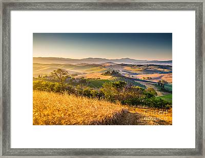 Tuscan Gold 2.0 Framed Print by JR Photography