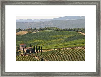 Tuscan Hillside Framed Print