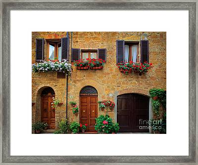 Tuscan Homes Framed Print by Inge Johnsson