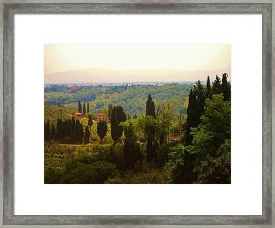 Framed Print featuring the photograph Tuscan Landscape by Dany Lison