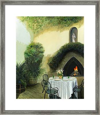 Tuscan Luncheon Framed Print by Cecilia Brendel