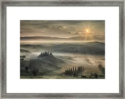 Tuscan Morning Framed Print by Christian Schweiger