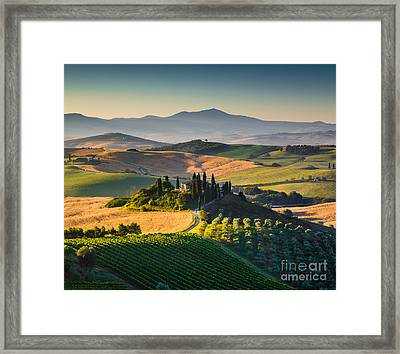 Tuscan Morning Framed Print by JR Photography