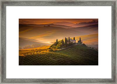 Tuscan Morning Framed Print by Stefano Termanini