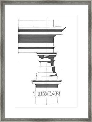 Tuscan Order Framed Print by Calvin Durham