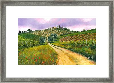 Tuscan Road Framed Print by Michael Swanson
