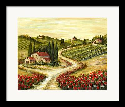 Tuscan Road Framed Prints