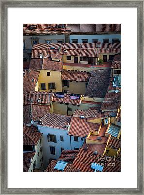 Tuscan Rooftops Framed Print by Inge Johnsson