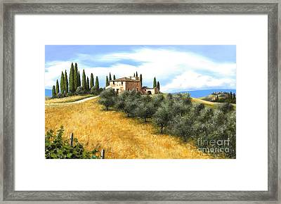 Tuscan Sentinels Framed Print by Michael Swanson