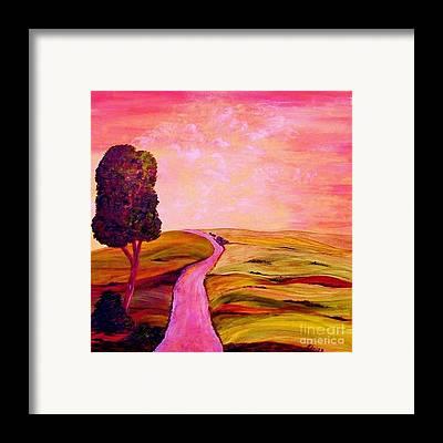 Tuscan Sunset Mixed Media Framed Prints