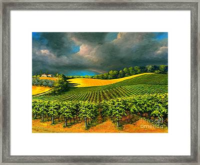 Tuscan Storm Framed Print by Michael Swanson