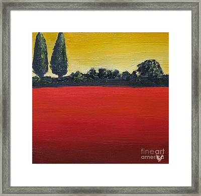 Tuscan Sunrise Framed Print by Venus