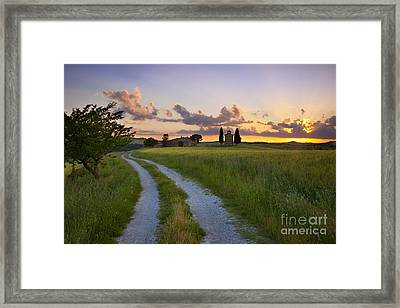 Tuscan Sunset Framed Print by Brian Jannsen
