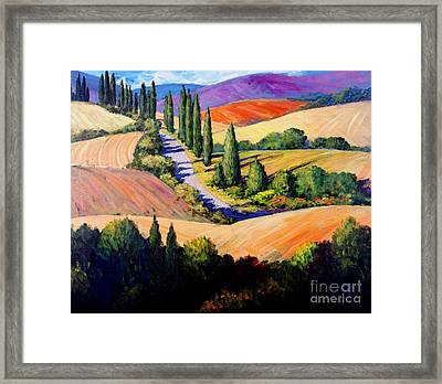 Tuscan Trail Framed Print