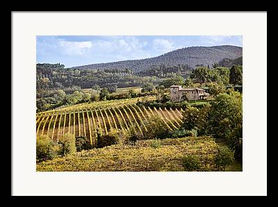 Tuscan Valley Framed Prints