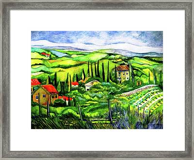 Tuscan Valley Framed Print