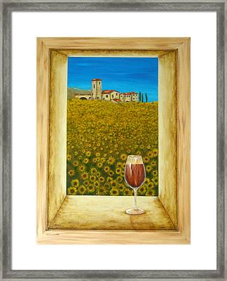 Tuscan View Framed Print by Pamela Allegretto