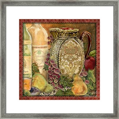 Tuscan Wine-d Framed Print by Jean Plout