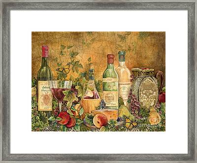 Tuscan Wine Treasures Framed Print by Jean Plout