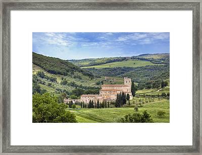 Tuscany - Abbazia Di Sant'antimo Framed Print