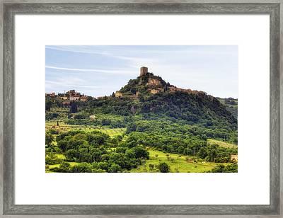 Tuscany - Castiglione D'orcia Framed Print by Joana Kruse
