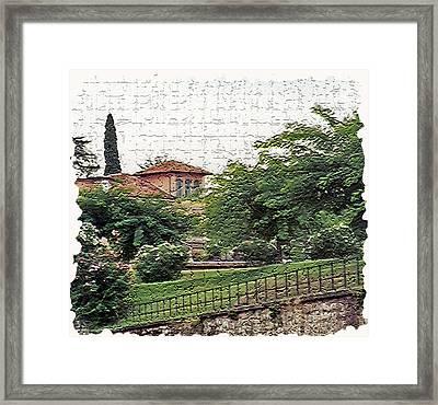 Tuscany 4 Framed Print by Rebecca Cozart