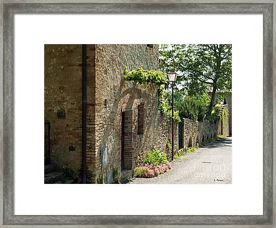 Tuscany Alley Italy Framed Print by Haleh Mahbod
