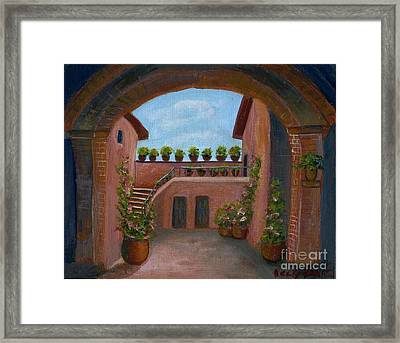 Framed Print featuring the painting Tuscany Arch by Becky Lupe
