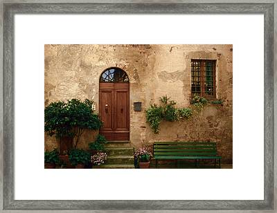 Tuscany At Your Doorstep Framed Print