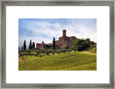 Tuscany- Castello Di Poggio Alla Mura Framed Print