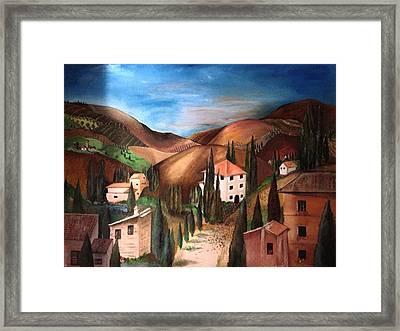 Tuscany Framed Print by Catherine Visconte