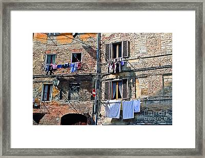 Tuscany Clothes Dryer Framed Print