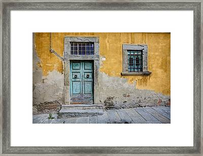 Tuscany Entrance Cortona Framed Print