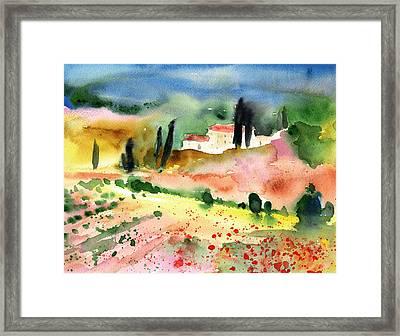 Tuscany Landscape 02 Framed Print by Miki De Goodaboom