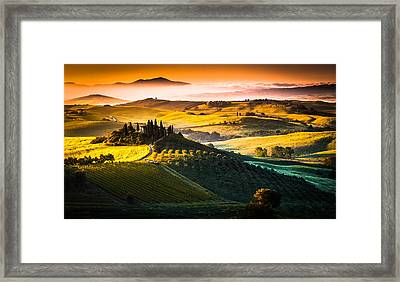 Tuscany Morning Framed Print by Stefano Termanini